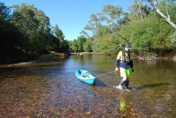 Kayaker on the Ovens River, by North East CMA